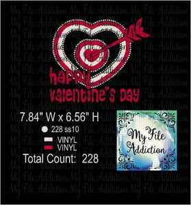 Happy Valentine's Rhinestone & Vector Digital Download File - My File Addiction