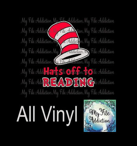Hats off to Reading Vector Digital Download File - My File Addiction