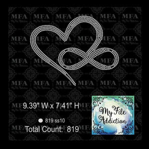 Heart Infinity Rhinestone Digital Download File - My File Addiction
