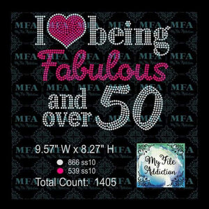 I Love Being Fabulous and over 50 Rhinestone Digital Download File - My File Addiction