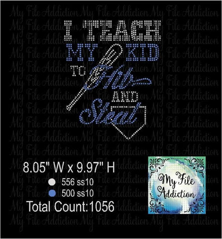 I Teach My Kid Rhinestone Digital Download File - My File Addiction