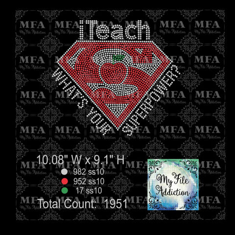 iTeach What's Your Superpower? Rhinestone Digital Download File