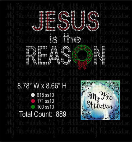 Jesus Is The Reason Rhinestone Digital Download File - My File Addiction
