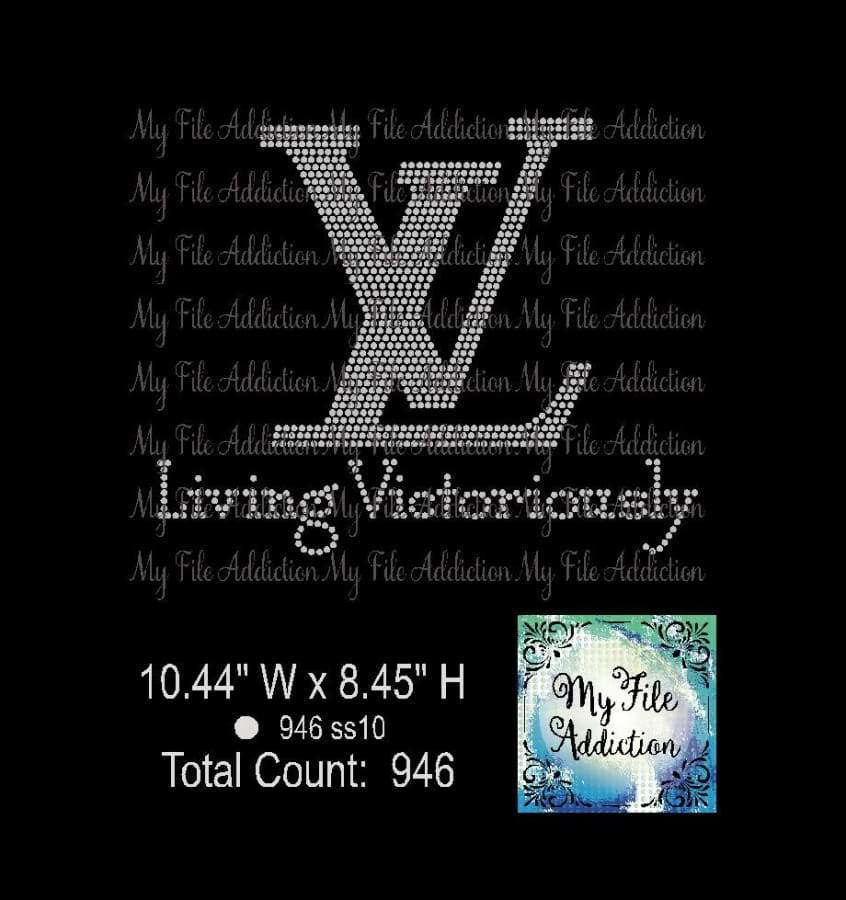 Living Victoriously Rhinestone Digital Download File - My File Addiction