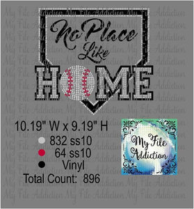 No Place Like Home Rhinestone & Vector Digital Download File - My File Addiction