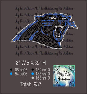 Panther Mascot Rhinestone Digital Download File - My File Addiction