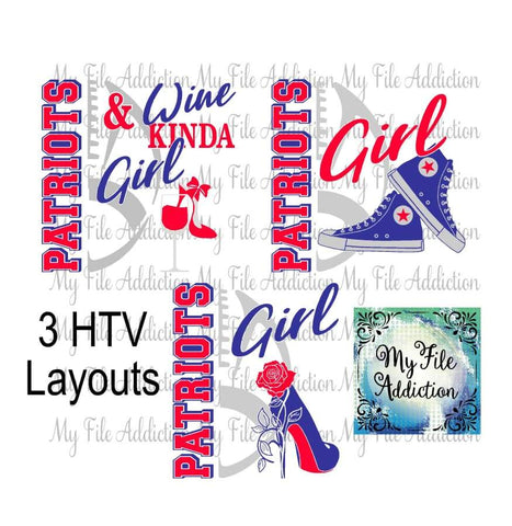 Patriots Football High Tops Rose Wine High Heel Shoe Vector Digital Download File - My File Addiction