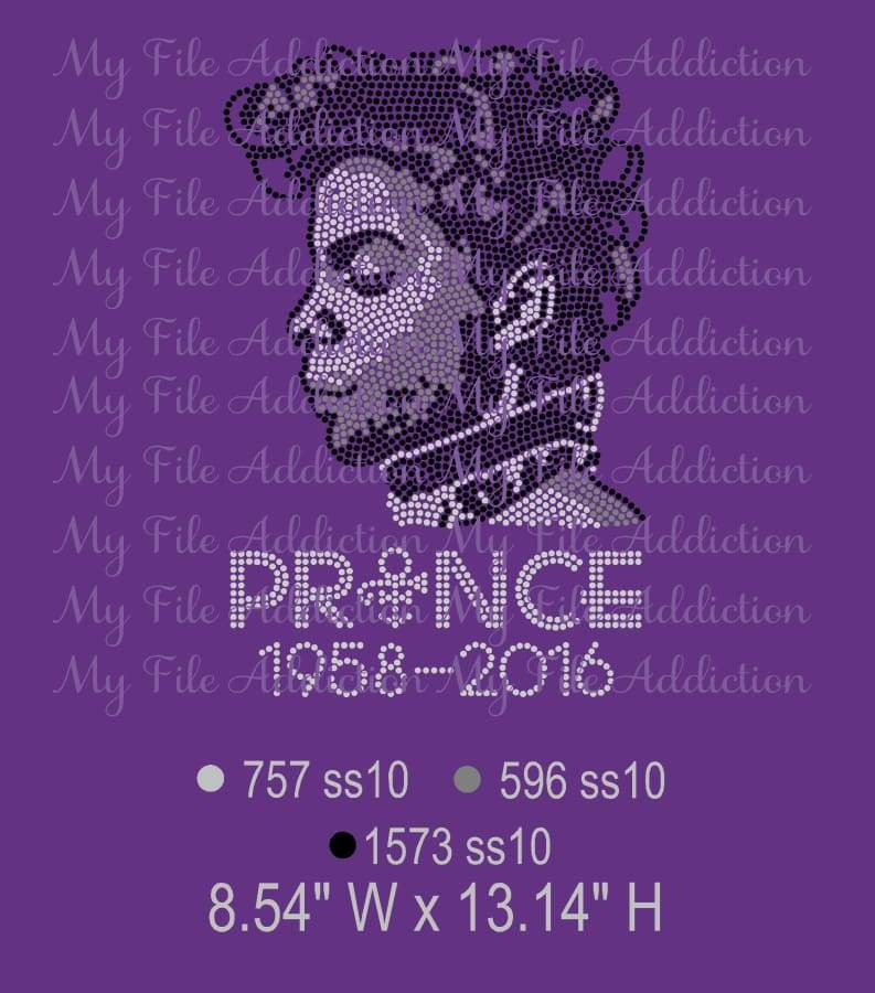 Prince with Dates Rhinestone Digital Download File - My File Addiction