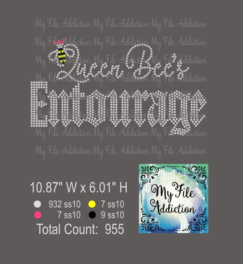Queen Bee's Entourage Rhinestone Digital Download File - My File Addiction