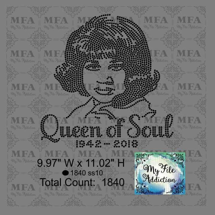 Queen of Soul Aretha Franklin Rhinestone Digital Download File - My File Addiction