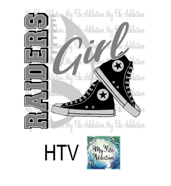 Raiders Football High Tops Rose Wine High Heel Shoe Vector Digital Download File - My File Addiction