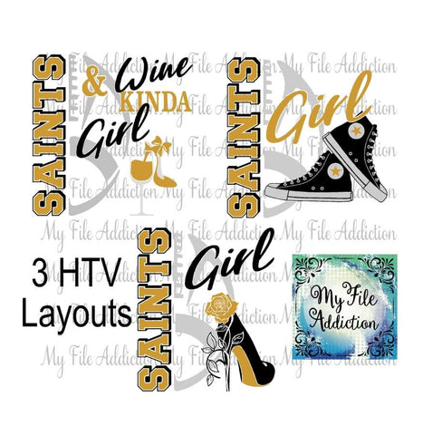 Saints Football High Tops Rose Wine High Heel Shoe Vector Digital Download File - My File Addiction