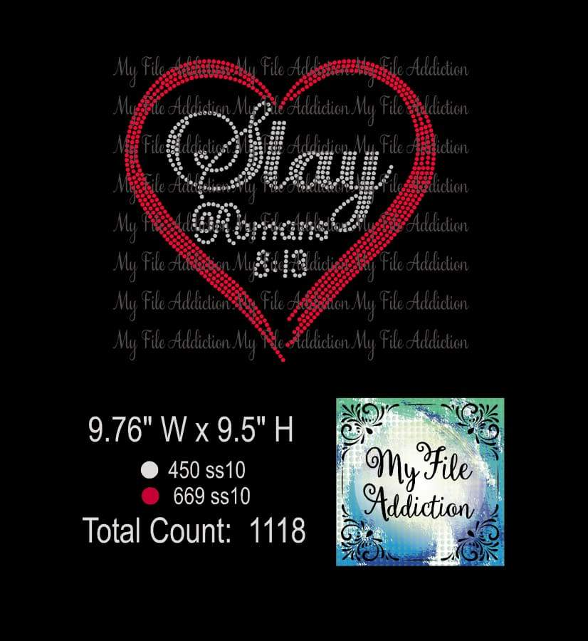 Slay Romans 8:13 Rhinestone Digital Download File - My File Addiction
