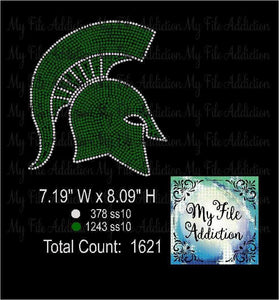 Spartan Trojan Rhinestone Digital Download File - My File Addiction
