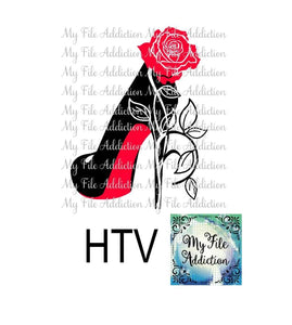 Stiletto Rose High Heel Shoe Vector Digital Download File - My File Addiction
