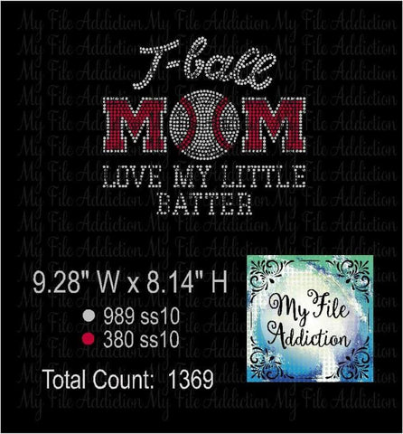 T Ball Mom Rhinestone Digital Download File - My File Addiction