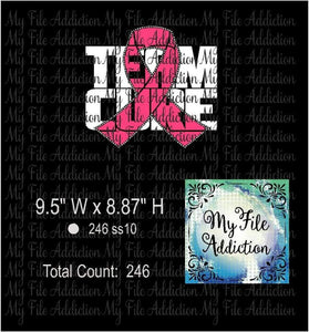 Team Cure Rhinestone & Vector Digital Download File - My File Addiction