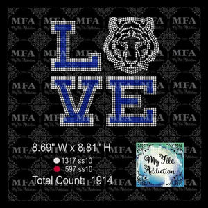 Tiger Love Rhinestone Digital Download File - My File Addiction
