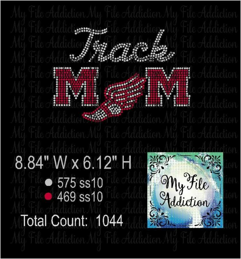 Track Mom Rhinestone Digital Download File - My File Addiction