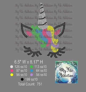 Unicorn Rhinestone Digital Download File - My File Addiction