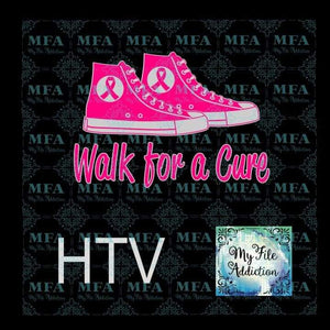 Walk for a Cure Cancer Vector Digital Download File - My File Addiction
