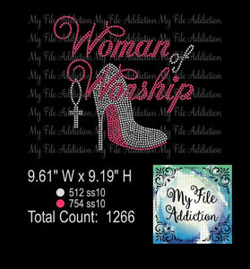 Woman of Worship Rhinestone Digital Download File - My File Addiction