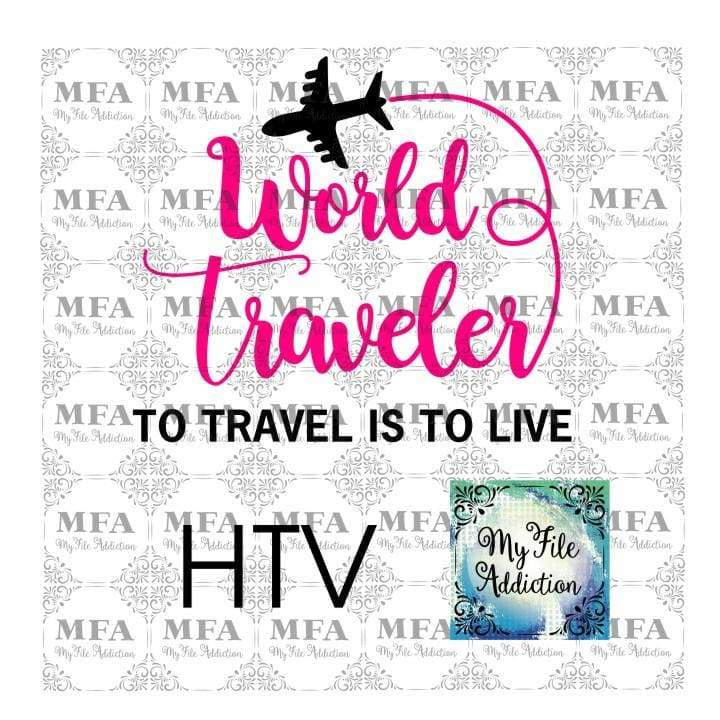 World Traveler Vector Digital Download File - My File Addiction
