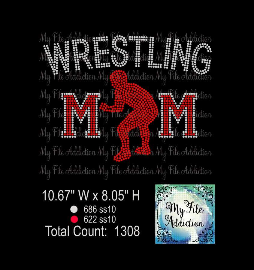 Wrestling Mom Rhinestone Digital Download File - My File Addiction