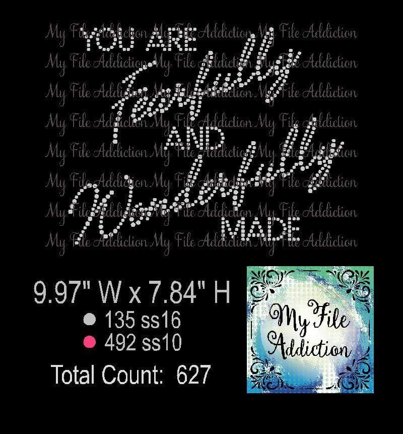 You Are Fearfully and Wonderfully Made Rhinestone Digital Download File - My File Addiction