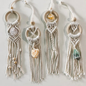 Mini crystal Macramé dream catchers