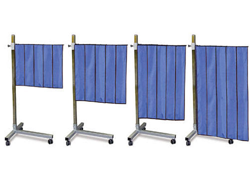 Pleated Panel Mobile Shield