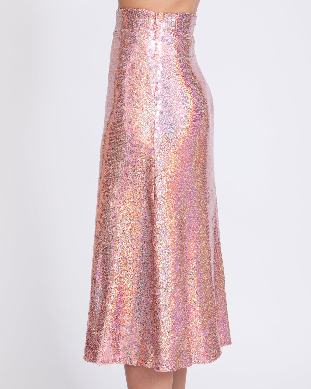 Blush Holographic Long Skirt