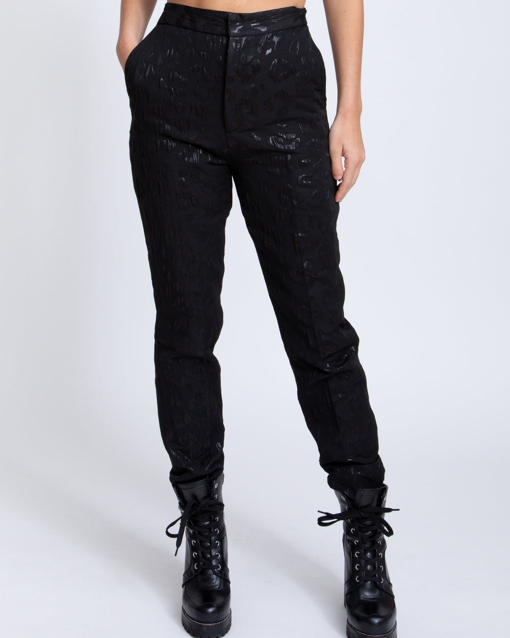Leopard Trouser - Black