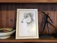 Load image into Gallery viewer, Detailed custom pet portrait in pencil (A4)