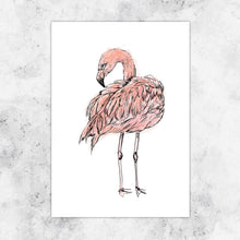 Load image into Gallery viewer, Flamingo Giclee Art Print
