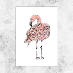 Flamingo Giclee Art Print