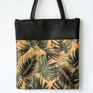 Cork Tote Bag - Tropical Leaf