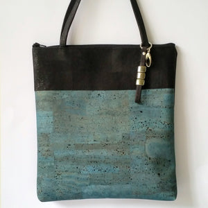 Cork Tote Bag - Light Blue