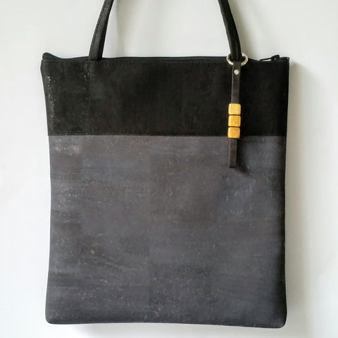 Cork Tote Bag - Charcoal Grey *MADE TO ORDER
