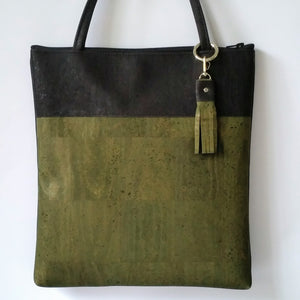 Cork Tote Bag - Olive Green