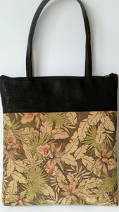 Cork Tote Bag - Tropical Floral *MADE TO ORDER