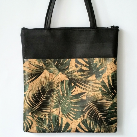 Cork Tote Bag - Tropical Leaf *MADE TO ORDER