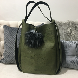 Cork CONVERTIBLE Backpack/Shoulder Bag - Olive Green