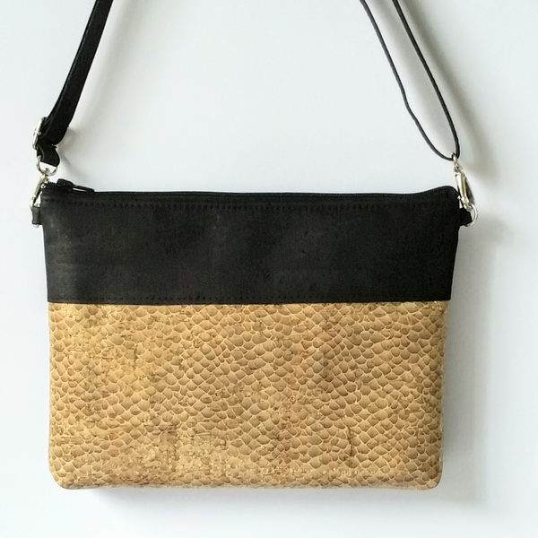 Cork Crossbody Bag/Clutch - Antique Gold