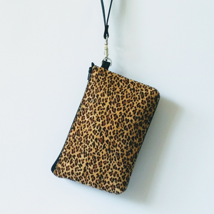 Cork Phone/Makeup Purse - Leopard Print