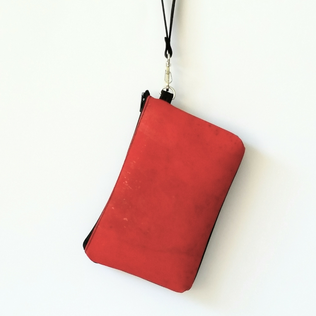 Cork Phone/Makeup Purse - Red