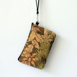 Cork Phone/Makeup Purse - Tropical Floral
