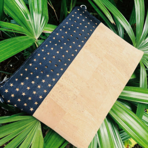 Cork Crossbody Bag/Clutch - Laser Cut/Natural *MADE TO ORDER