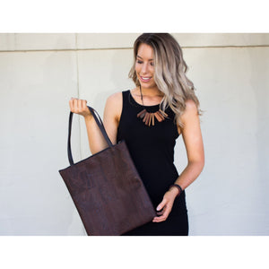 Cork Tote Bag - Chocolate *MADE TO ORDER