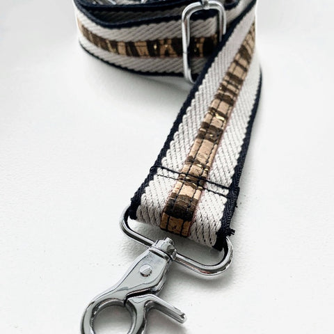 LIMITED Edition Crossbody/Shoulder Strap - Twill with Tiger Print CORK